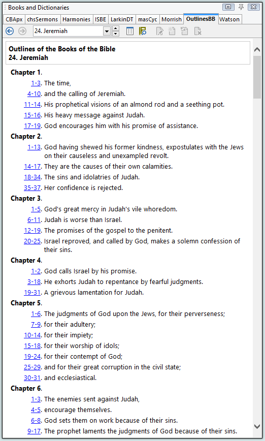 books of the bible outline