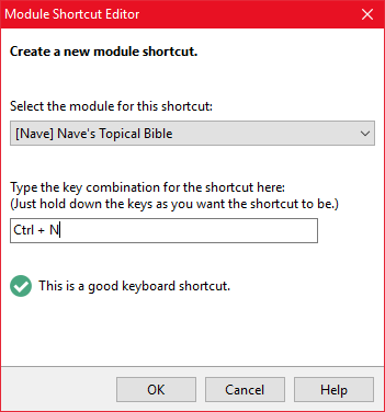 Adding a module shortcut