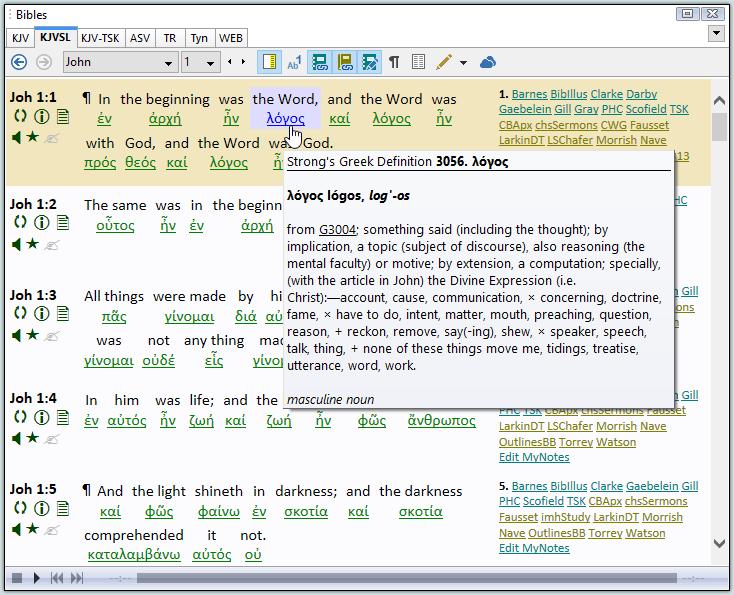 SwordSearcher Bible Software - Features - King James Version