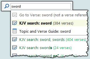 Quick Bible Search toolbar [Sample]