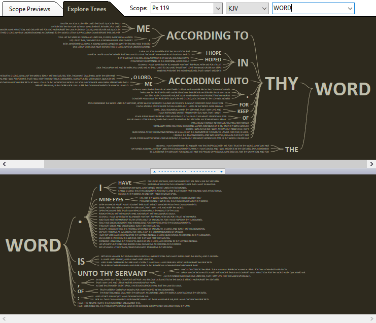 Bible Word Trees in SwordSearcher